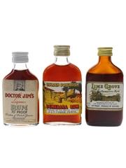 Doctor Jim's, Golden Sovereign & Lime Grove Demerara Rum