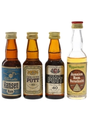 Hansen, Pott & Wippermann Rum  4 x 4cl