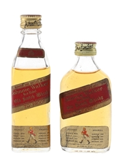 Johnnie Walker Red Label Bottled 1960s & 1970s 2 x 5cl / 40%