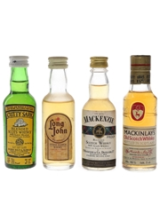 Cutty Sark, Long John, Mackenzie & Mackinlay's Bottled 1970s-1980s 4 x 5cl
