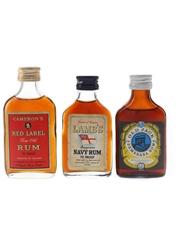 Cameron's, Lamb's & Old Jack Demerara Rum