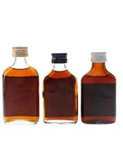 Cameron's, Lamb's & Old Jack Demerara Rum Bottled 1960s-1970s 3 x 5cl / 40%