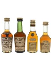 Hennessy Bras Arme & VSOP Bottled 1960s, 1970s & 1980s 4 x 3cl-5cl / 40%