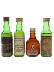 Black Bottle, Campbeltown Loch, Drovers Dram & Robbie Burns Bottled 1970s & 1980s 4 x 4.7cl-5cl / 40%