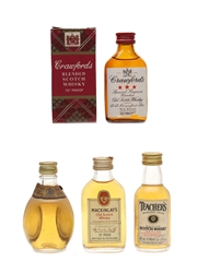 Crawford's, Dimple, Mackinlay's & Teacher's Bottled 1970s 4 x 5cl / 40%