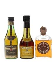 Gonzales Byass & Torres Brandy  3 x 5cl