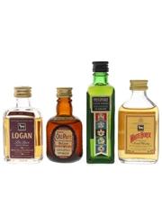 Grand Old Parr, Logan, Passport & White Horse Bottled 1970s & 1990s 4 x 5cl