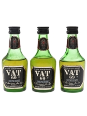 Vat 69 Reserve Bottled 1980s 3 x 5cl / 40%