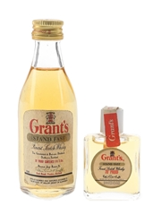 Grant's Stand Fast Bottled 1970s 1cl & 4.7cl / 40%