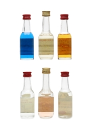 Assorted Bols Liqueurs Bottled 1970s 6 x 3.5cl