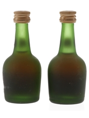 Courvoisier Napoleon Cognac Bottled 1970s-1980s 2 x 5cl / 40%