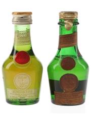 Benedictine DOM Bottled 1960s & 1980s 2 x 3cl