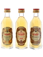 Grant's Standfast Bottled 1970s & 1990s 3 x 4.7cl-5cl / 40%