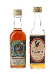 Bardinet Negrita & Gilbey's Governor General Bottled 1970s 2 x 5cl