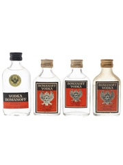 Romanoff Vodka Bottled 1960s & 1970s 4 x 4cl-5cl / 37.5%