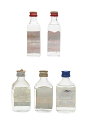 Borzoi & Cossack Vodka Bottled 1970s & 1980s 5 x 5cl