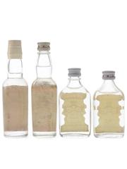 Smirnoff Red Label Vodka Bottled 1960s & 1970s 4 x 5cl / 37.5%