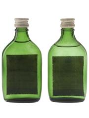 Gordon's Special Dry London Gin Bottled 1960s 2 x 5cl / 40%