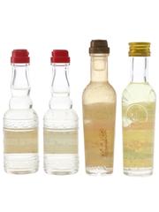 Campari & Liquore Strega Bottled 1970s 4 x 3cl-5cl