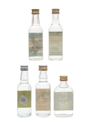 Assorted Vodka Bottled 1970s & 1980s 5 x 4.7cl-5cl