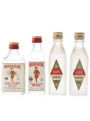 Beefeater & Glibey's London Dry Gin Bottled 1960s & 1970s 4 x 4.7cl-5cl