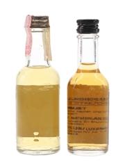 Black Velvet Bottled 1970s-1980s 2 x 4.5cl-5cl
