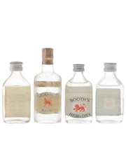 Booth's Dry Gin Bottled 1960s-1970s 4 x 5cl / 40%