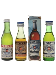Pernod & Ricard Bottled 1960s & 1970s 3 x 2.3cl-5cl
