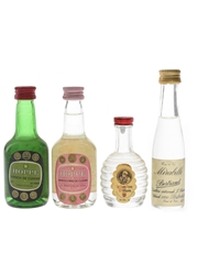Assorted Eaux De Vie & Liqueurs Bertrand, Hoppe & Le Bon Pere William 4 x 3cl-5cl