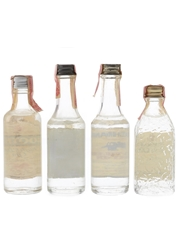 Booth's, Fleischmann's & Seagram's Dry Gin Bottled 1970s-1980s - United States 4 x 4.7cl-5cl