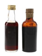 Grant's Morella Cherry Brandy Bottled 1960 & 1980s 2 x 5cl