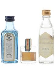 Bombay Sapphire, Cumrae Supply & Maund's Gin  3 x 1cl-5cl