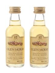 Glen Moray 12 Year Old Bottled 1980s 2 x 5cl / 40%