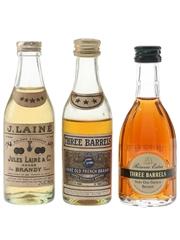 Jules Laine & Three Barrels Brandy  3 x 5cl / 40%