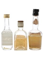 Bols, Der Lachs & Hulstkamp Goldwasser Bottled 1960s & 1970s 3 x 3.5cl-5cl