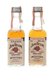 Jim Beam Bottled 1970s-1980s 2 x 4.7cl-5cl / 40%