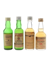 Chequers, MacArthur's, Pig's Nose And Whyte & Mackays Bottled 1970s 4 x 4.7cl-5cl