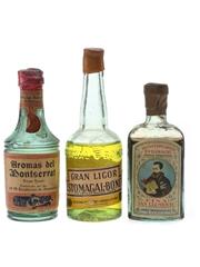 Aromas Del Montserrat, Estomagal Bonet & Kina San Clemente Bottled 1950s-1960s 3 x 5cl