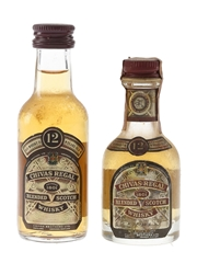 Chivas Regal 12 Year Old Bottled 1960s & 1980s 2 x 5cl / 43%
