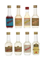 Assorted Bols Liqueurs Bottled 1970s 8 x 3.5cl