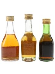 Louis Royer, Monnet & Renault Cognac  3 x 3cl-5cl / 40%