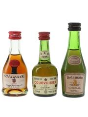 Bisquit, Courvoisier & Delamain Bottled 1970s 3 x 3cl-5cl / 40%