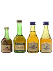 Grand Empereur, Raynal & Three Barrels Bottled 1970s-1980s 4 x 3cl-5cl