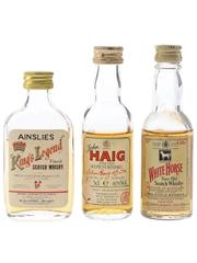 Haig, King's Legend & White Horse Bottled 1970s & 1980s 3 x 4cl - 5cl / 40%