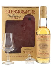 Glenmorangie 10 Year Old Gift Set with Tasting Glass Bottled 1990s 35cl / 40%