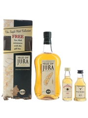 Isle Of Jura 10 Year Old Gift Set Includes Bruichladdich & Dalmore Miniatures 2 x 5cl & 70cl