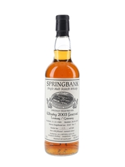 Springbank 1989 Sherry Hogshead 0107 Limburg Whisky Festival 2003 70cl / 55.8%
