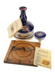 Pusser's 15 Year Old Navy Rum Battle of Trafalgar Bicentenary 1805-2005 HMS Victory Oak Tray 100cl / 47.75%