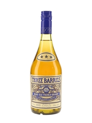 Three Barrels Rare Old French Brandy Bottled 1970s 68cl / 40%