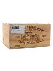 Chateau Ducru Beaucaillou 1986 Saint-Julien 6 x 75cl / 12.5%